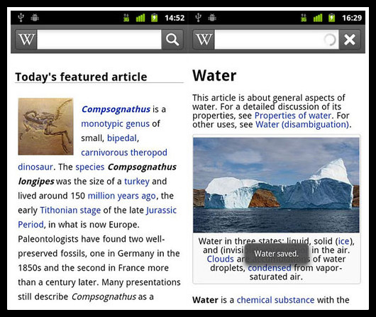 Wikipedia Android app