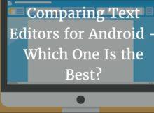 text editors compared